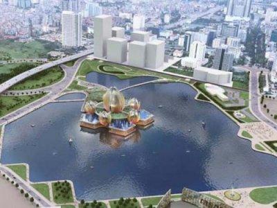 Hà Nội sắp xây dựng nhà hát Hoa Sen 'nổi' trên hồ