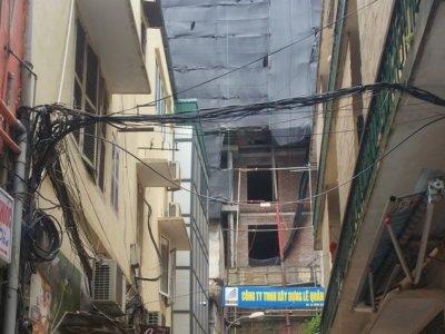 """Tràng Tiền (Hoàn Kiếm): Phát hiện một công trình """"khủng"""" xây dựng sai phép"""